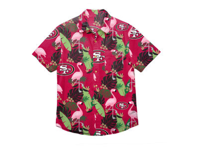 San Francisco 49ers Forever Collectibles NFL Men's Floral Camp Shirt