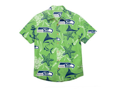 Seattle Seahawks Forever Collectibles NFL Men's Floral Camp Shirt