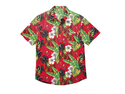 Tampa Bay Buccaneers Forever Collectibles NFL Men's Floral Camp Shirt
