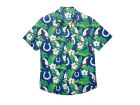 Indianapolis Colts Forever Collectibles NFL Men's Floral Camp Shirt Button Up Shirts