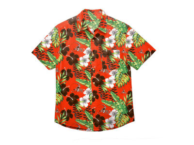 Cleveland Browns Forever Collectibles NFL Men's Floral Camp Shirt