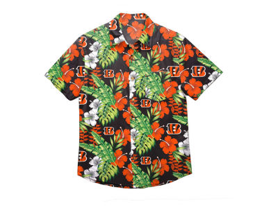 Cincinnati Bengals Forever Collectibles NFL Men s Floral Camp Shirt eeb670f87
