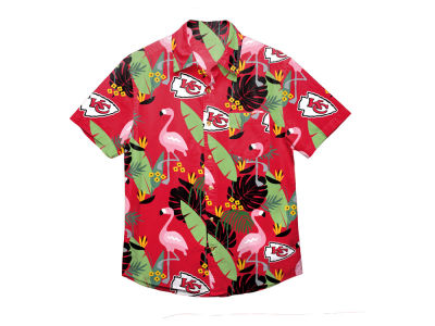 Kansas City Chiefs Forever Collectibles NFL Men's Floral Camp Shirt