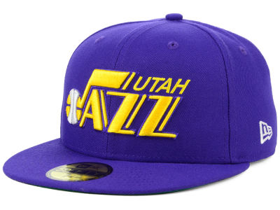 Utah Jazz New Era NBA Hardwood Classic Nights 59FIFTY Cap ce4d2972780