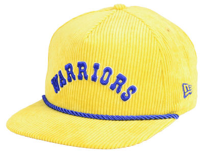 Golden State Warriors New Era NBA Hardwood Classic Nights Cords 9FIFTY Snapback Cap