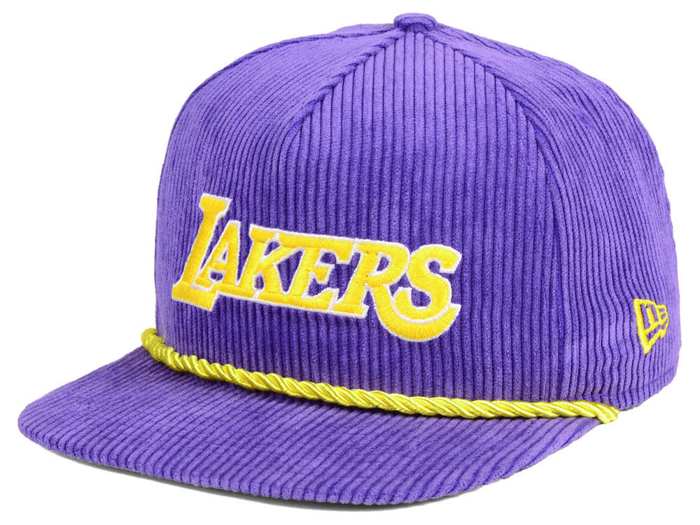 Los Angeles Lakers New Era NBA Hardwood Classic Nights Cords 9FIFTY Snapback  Cap  dddf80e464f8