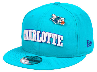 Charlotte Hornets New Era NBA Hardwood Classic Nights Pin 9FIFTY Snapback Cap
