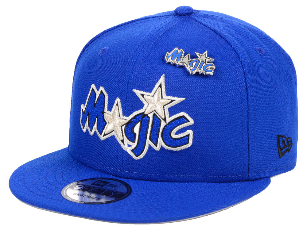 f40338560e7 Orlando Magic New Era NBA Hardwood Classic Nights Pin 9FIFTY Snapback Cap