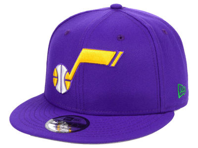 Utah Jazz New Era NBA Hardwood Classic Nights Pin 9FIFTY Snapback Cap