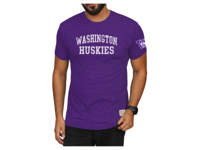Washington Huskies Retro Brand 2018 NCAA Men's Stacked Wordmark T-Shirt