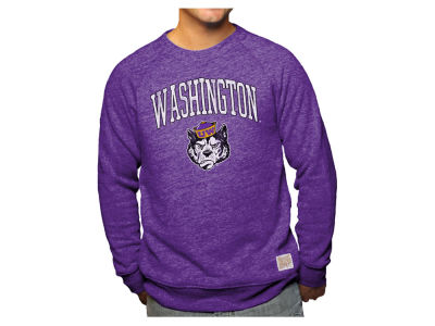 Washington Huskies Retro Brand NCAA Men's Softee Heather Crew Sweatshirt