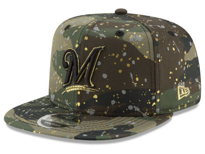 Milwaukee Brewers New Era MLB Camo Spec 9FIFTY Snapback Cap