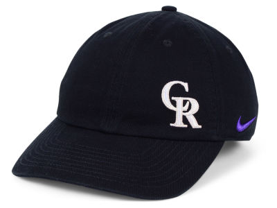 Colorado Rockies Nike MLB Women s Offset Adjustable Cap 2c19c4f963