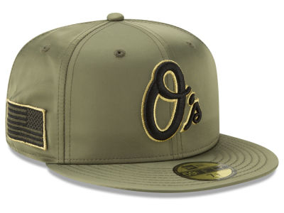 Baltimore Orioles New Era MLB Satin Salute 59FIFTY Cap