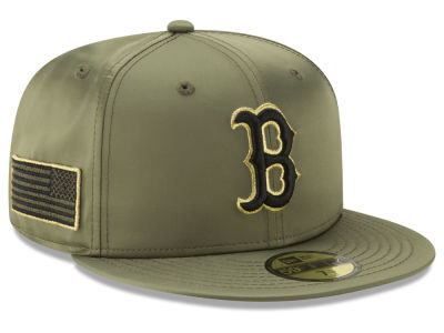 Boston Red Sox New Era MLB Satin Salute 59FIFTY Cap