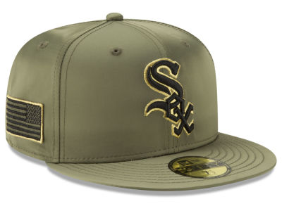 Chicago White Sox New Era MLB Satin Salute 59FIFTY Cap