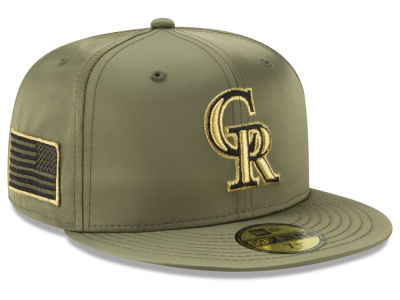 Colorado Rockies New Era MLB Satin Salute 59FIFTY Cap