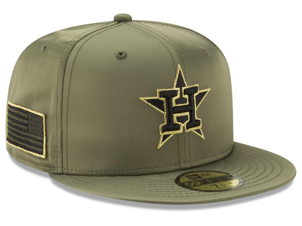 90626612575 Houston Astros New Era MLB Satin Salute 59FIFTY Cap