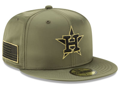 Houston Astros New Era MLB Satin Salute 59FIFTY Cap