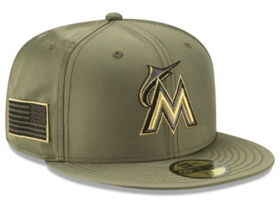 Miami Marlins New Era MLB Satin Salute 59FIFTY Cap