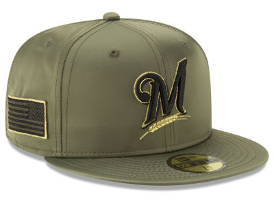 Milwaukee Brewers New Era MLB Satin Salute 59FIFTY Cap