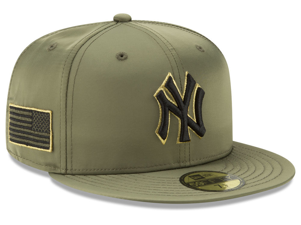 New York Yankees New Era MLB Satin Salute 59FIFTY Cap  b187fa5a0e8