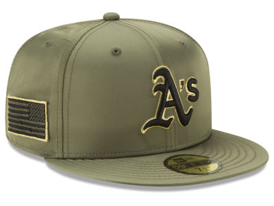 Oakland Athletics New Era MLB Satin Salute 59FIFTY Cap