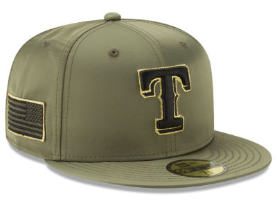 Texas Rangers New Era MLB Satin Salute 59FIFTY Cap