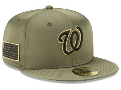 Washington Nationals New Era MLB Satin Salute 59FIFTY Cap