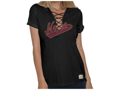 Florida State Seminoles Retro Brand NCAA Women's Lace Up Vneck T-Shirt