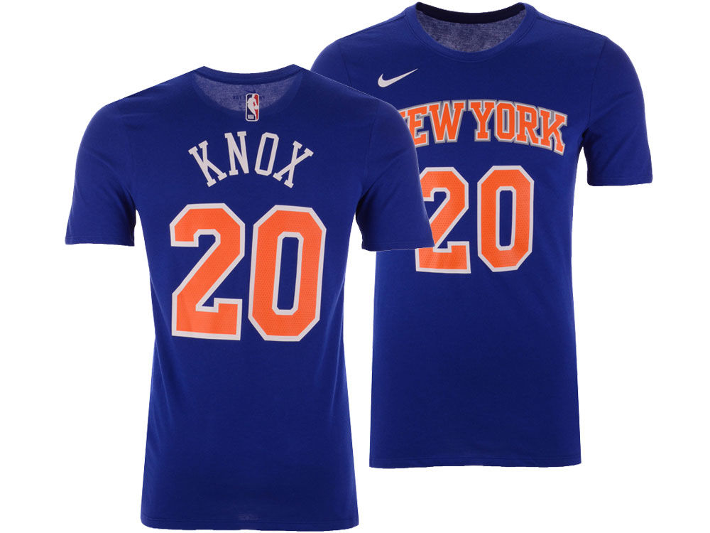 6bd6bc2ba New York Knicks Kevin Knox Nike NBA Men s Icon Player T-shirt