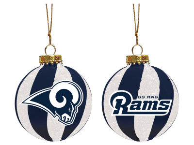 "Los Angeles Rams Memory Company 3"" Sparkle Glass Ball Ornament"
