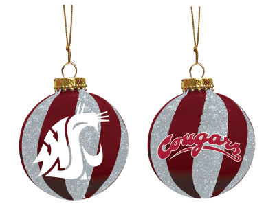 "Washington State Cougars Memory Company 3"" Sparkle Glass Ball Ornament"