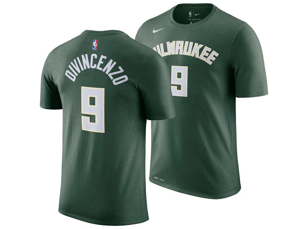 ce5b9aaf1 Milwaukee Bucks Donte DiVincenzo Nike NBA Men s Icon Player T-shirt ...