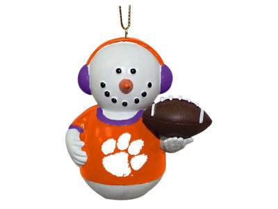 Clemson Tigers Memory Company Snowman With Earmuffs Ornament