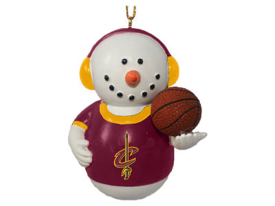 Cleveland Cavaliers Memory Company Snowman With Earmuffs Ornament