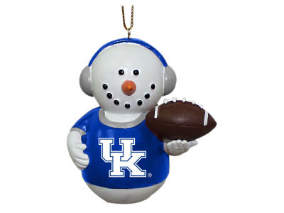 Kentucky Wildcats Memory Company Snowman With Earmuffs Ornament