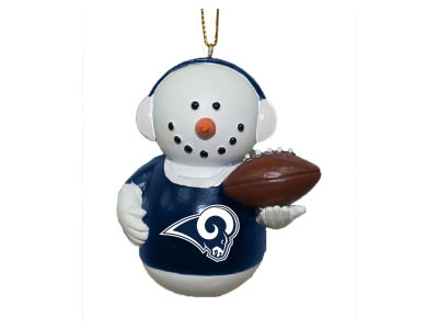 Los Angeles Rams Memory Company Snowman With Earmuffs Ornament