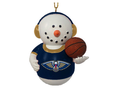 New Orleans Pelicans Memory Company Snowman With Earmuffs Ornament