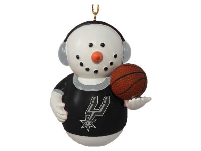 San Antonio Spurs Memory Company Snowman With Earmuffs Ornament
