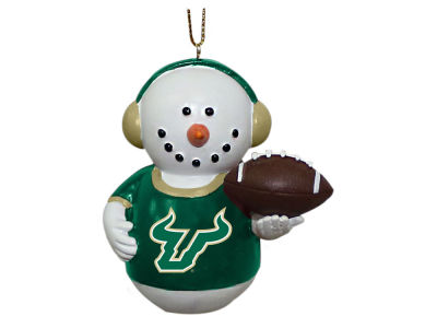 South Florida Bulls Memory Company Snowman With Earmuffs Ornament