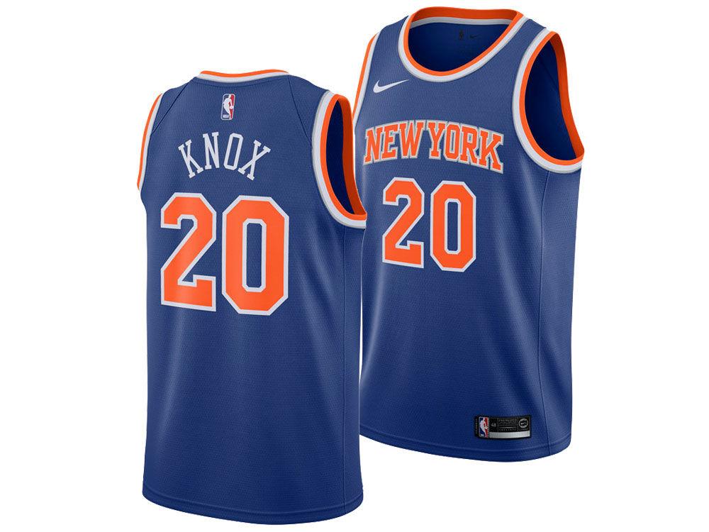 New York Knicks Kevin Knox Nike NBA Men s Icon Swingman Jersey  9f37cc9c4