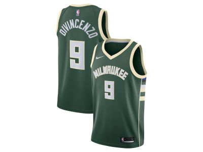 Milwaukee Bucks Donte DiVincenzo Nike NBA Men's Icon Swingman Jersey