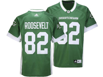 Saskatchewan Roughriders Naaman Roosevelt adidas CFL Men's Premier Player Jersey