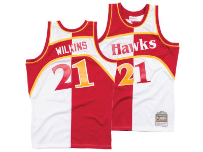 Atlanta Hawks Dominique Wilkins Mitchell & Ness NBA Men's Split Swingman Jersey