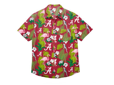 Alabama Crimson Tide NCAA Men's Floral Button Up Shirt