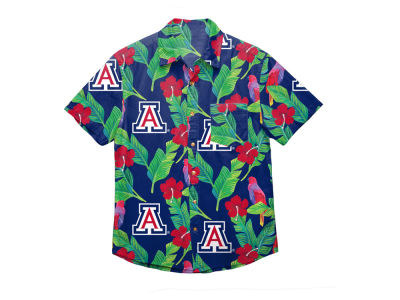 Arizona Wildcats NCAA Men's Floral Button Up Shirt