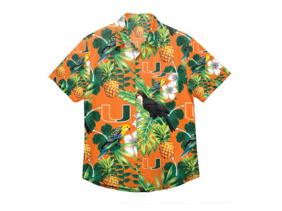 Miami Hurricanes Forever Collectibles NCAA Men's Floral Button Up Shirt