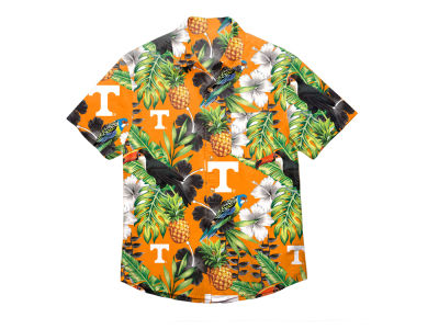 Tennessee Volunteers NCAA Men's Floral Button Up Shirt