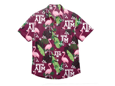 Texas A&M Aggies NCAA Men's Floral Button Up Shirt